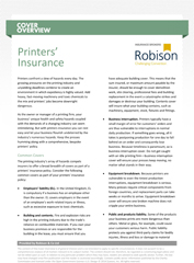 Printing Insurance Tailored Home Business & Professional Indemnity Petersfield Hampshire Portsmouth Winchester Chichester Guildford Surrey Sussex