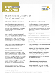 Office Risk Insights The Risks and Benefits of Social Networking