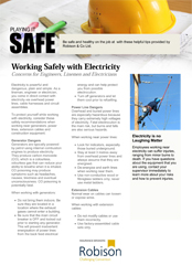 Construction Playing it Safe - Working Safely with Electricity