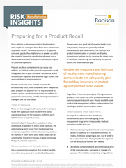 Manufacturing Risk Insights Preparing for a Product Recall