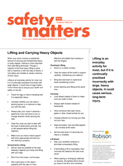Retail Safety Matters- Lifting and Carrying Heavy Objects