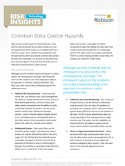 Technology Risk Insights Common Data Centre Hazards