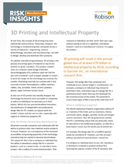 Manufacturing Risk Insights 3D Printing and Intellectual Property