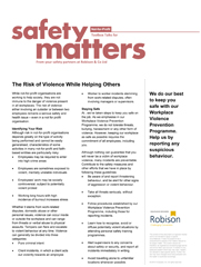 Not-for-Profit Safety Matters - The Risk of Violence While Helping Others