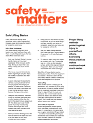 Retail Safety Matters - Safe Lifting Basics