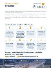 Printers 8 Reasons Fact Sheet
