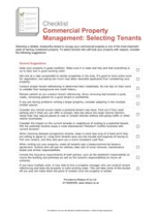 Commercial Property Management - Selecting Tenants