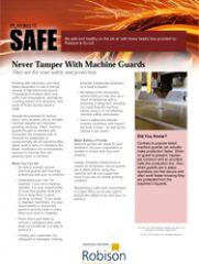 Manufacturing Playing It Safe Never Tamper With Machine Guards
