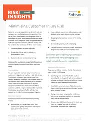 Retail Risk Insights - Minimising Customer Injury Risk