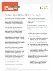 Retail Risk Insights - Protect Your Online Retail Network