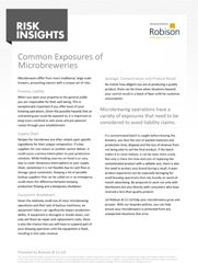 Risk Insights Common Exposures of Microbreweries