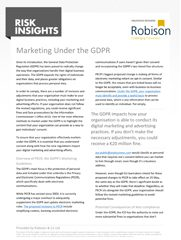 Risk Insights Marketing Under the GDPR