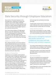Technology Risk Insights Data Security Through Employee Education