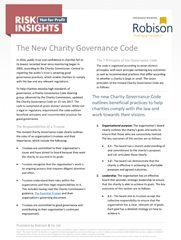Charity and Not-for-Profit Risk Insights The New Charity Governance Code