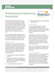 Cover Overview Professional Indemnity Insurance