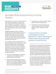 Health Care Risk Insights Sensible Risk Assessments in Care Homes