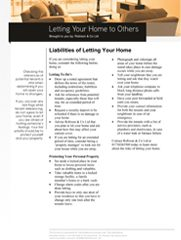 High Net Worth (Renting Your Home to Others) - Liabilities of Letting Your Home