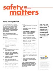 Retail Safety Matters - Safely Driving a Forklift